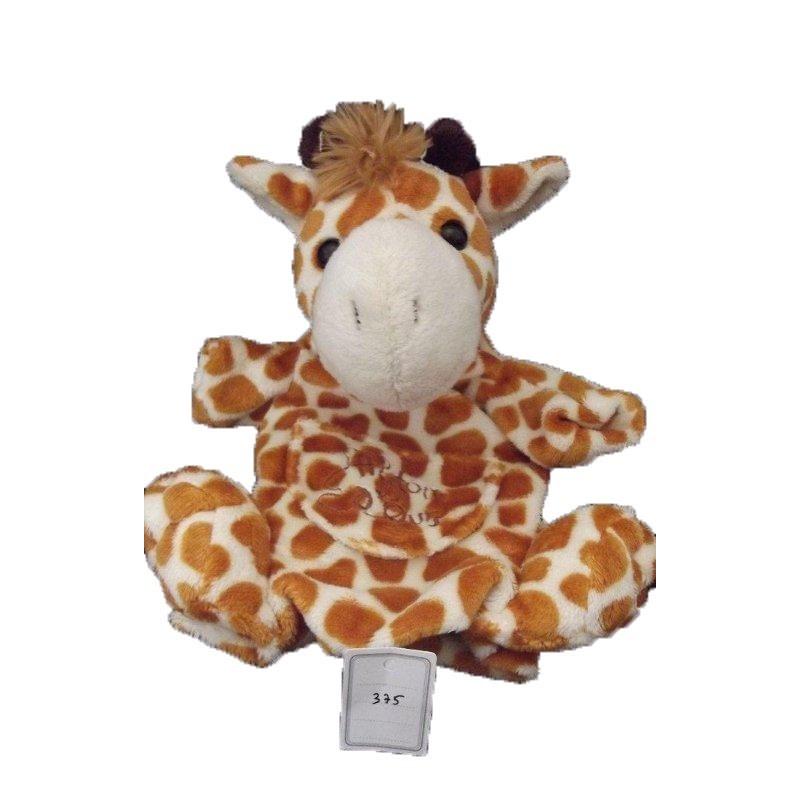 Accueil Histoire d'ours doudou Histoire d'ours Girafe Marron blanc HO1258 Marionnette