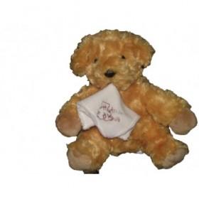 Accueil Histoire d'ours doudou Histoire d'ours Chien Marron tenant un mouchoir blanc HO1275 Pantin