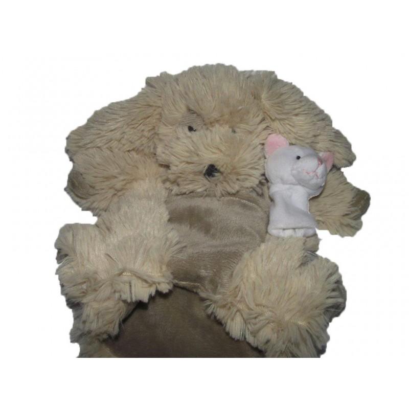 Accueil Histoire d'ours doudou Histoire d'ours Chien Beige HO2371 Marionnette