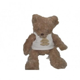 Accueil Histoire d'ours doudou Histoire d'ours Ours Marron tee -shirt blanc a habiller HO1150 Pantin