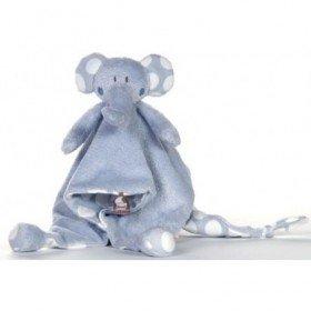 Accueil Dimpel doudou Dimpel Elephant Bleu Pois Blanc Bolli Plat