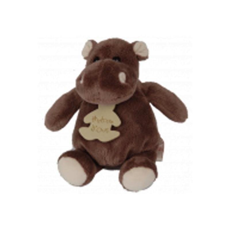 Accueil Histoire d'ours doudou Histoire d'ours Hippo Marron PM 14cms HO1059 Savane Pantin