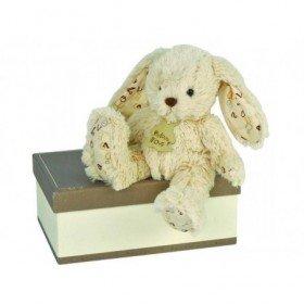 Accueil Histoire d'ours doudou Histoire d'ours Lapin Blanc 23cms HO2044 Alphabet Pantin