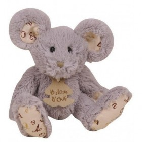Accueil Histoire d'ours doudou Histoire d'ours Souris Gris 16cms HO2202 Alphabet Pantin