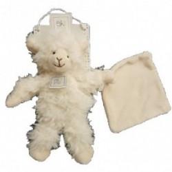 Accueil Histoire d'ours doudou Histoire d'ours Mouton Blanc avec mouchoir 20cms OH1035 Oh studio Pantin