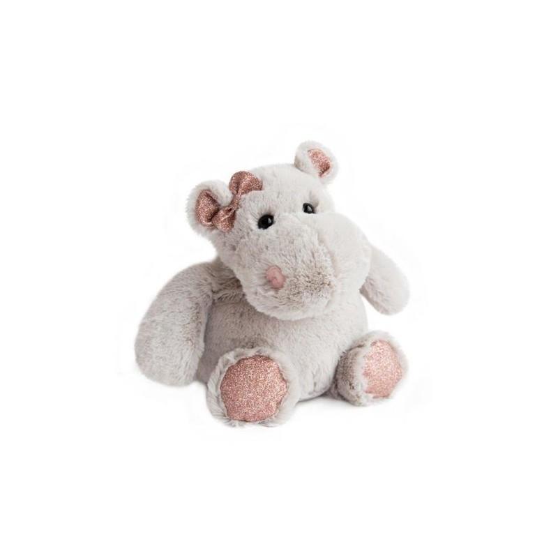 Accueil Histoire d'ours doudou Histoire d'ours Hippo Violet Girl 25cms HO2628 Glitter Pantin