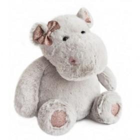 Accueil Histoire d'ours doudou Histoire d'ours Hippo Gris Girl 38cms HO2629 Glitter Pantin