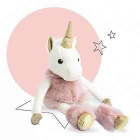 Accueil Histoire d'ours Doudou Histoire d'ours Licorne Rose Glitter or