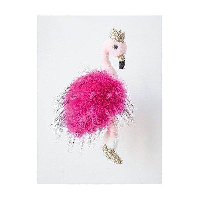 Accueil Histoire d'ours doudou Histoire d'ours Flamant Rose couronne 30cms Glitter Pantin