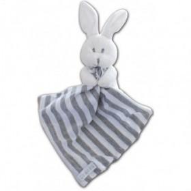 Accueil Chatounets doudou Chatounets Lapin Blanc rayure gris et blanc Pantin