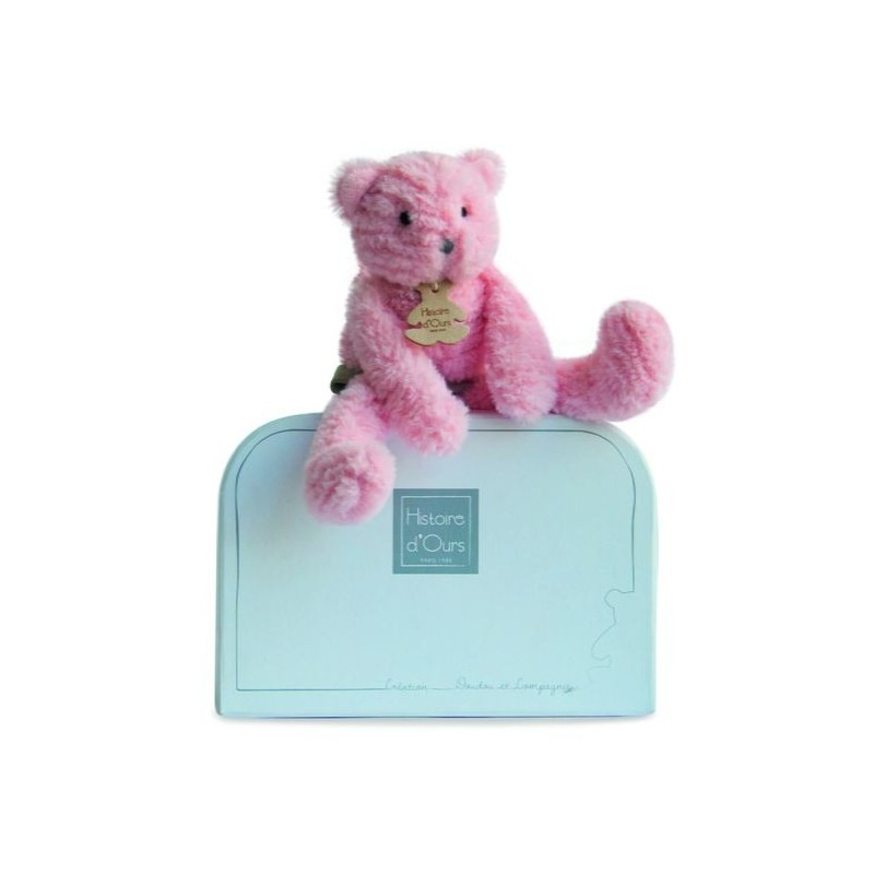 Accueil Histoire d'ours doudou Histoire d'ours Chat Rose 24cms HO2646 Sweety Pantin