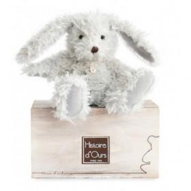 Accueil Histoire d'ours doudou Histoire d'ours Lapin Gris Chine 10cms Signature Pantin