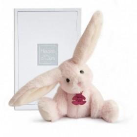 Accueil Histoire d'ours doudou Histoire d'ours Lapin Rose 27cms HO2735 Fluffy Pantin