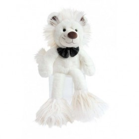 Accueil Histoire d'ours doudou Histoire d'ours Lion Blanc 30cms Glitter Pantin