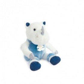 Accueil Histoire d'ours doudou Histoire d'ours Rhinoceros Bleu Rhinou 25cms HO2844 Les Petits Twist Pantin