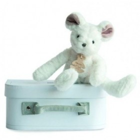 Accueil Histoire d'ours doudou Histoire d'ours Souris Blanc HO2644 Sweety Couture Pantin