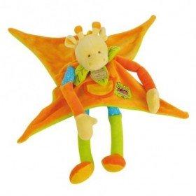 Accueil Doudou et Compagnie doudou Doudou et compagnie Girafe Orange Bourdon Les Zouzoos vert bleu plat Les Tatoo plat