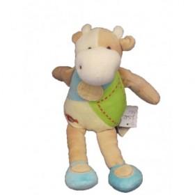 Accueil Doudou et Compagnie doudou Doudou et compagnie Vache Cerise bonbon vert et bleu Cerise Pantin