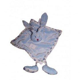 Accueil Doudou et Compagnie doudou Doudou et compagnie Lapin Bleu aubert creation jambes fleur  plat