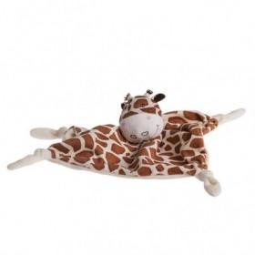Accueil Carré Blanc doudou Carré Blanc Girafe Marron Savane Plat