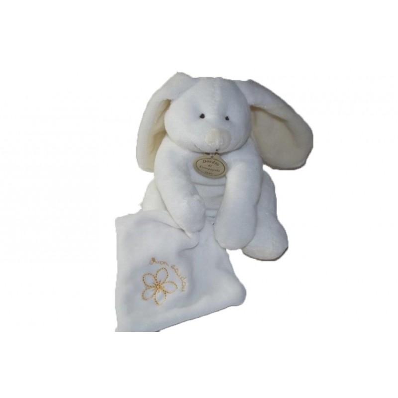 Accueil Doudou et Compagnie doudou Doudou et compagnie Lapin Blanc mouchoir fleur Douceur Flower Pantin