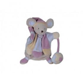 Accueil Doudou et Compagnie doudou Doudou et compagnie Souris Rose DC2385 Les Poudre Marionnette