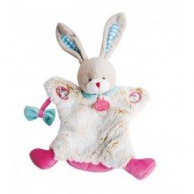 Accueil Doudou et Compagnie doudou Doudou et compagnie Lapin Rose fleur nœud DC2900 Choupidoudou Marionnette