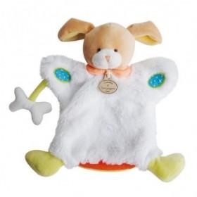 Accueil Doudou et Compagnie doudou Doudou et compagnie Ours Blanc os orange DC2900 Choupidoudou Marionnette