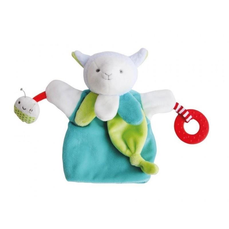 Accueil Doudou et Compagnie doudou Doudou et compagnie Mouton Vert activitee dentition DC3005 Magic Marionnette