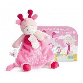Accueil Doudou et Compagnie doudou Doudou et compagnie Girafe Rose Les petits Amis Valisette DC2888 Unicef Plat