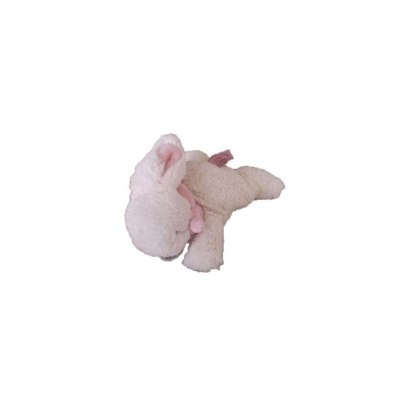 Accueil Doudou et Compagnie doudou Doudou et compagnie Lapin Blanc AVENT foulard rose 15 cms DC2672 AVT Lapin Bonbon Pantin