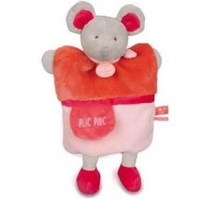 Accueil Doudou et Compagnie doudou Doudou et compagnie Souris Rose Plic Ploc rose DC2784 Petit Secret Marionnette