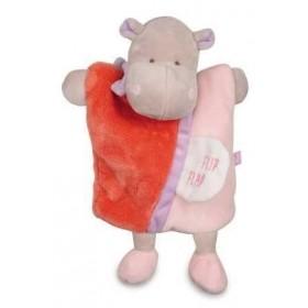 Accueil Doudou et Compagnie doudou Doudou et compagnie Hippo Rose Hippopotame marionnette Flip Flap petit secret DC2784 Petit...