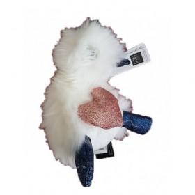 Accueil Doudou et Compagnie doudou Doudou et compagnie Canard Blanc Je T'aime cœur pattes bleu 18 cms Coin Coin Pantin