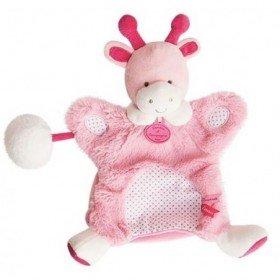 Accueil Doudou et Compagnie doudou Doudou et compagnie Girafe Rose pompon blanc DC3050 Lovely Fraise Marionnette