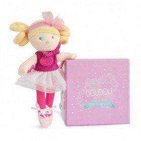 Accueil Doudou et Compagnie doudou Doudou et compagnie Poupee Rose blonde robe blanche DC3130 Les Demoiselles Tutu Poupee