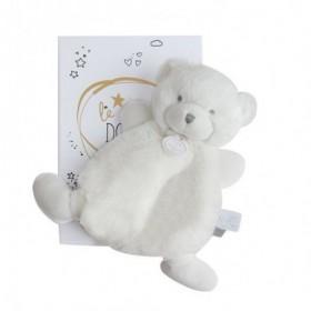 Accueil Doudou et Compagnie doudou Doudou et compagnie Ours Blanc etiquette argent 19cms Lumineux Plat