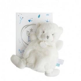 Accueil Doudou et Compagnie doudou Doudou et compagnie Ours Blanc etiquette bleu 19cms Lumineux Plat