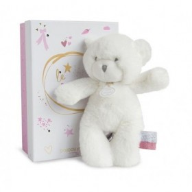 Accueil Doudou et Compagnie doudou Doudou et compagnie Ours Blanc etiquette rose 20cms Lumineux Pantin