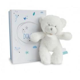 Accueil Doudou et Compagnie doudou Doudou et compagnie Ours Blanc etiquette bleu 20cms Lumineux Pantin