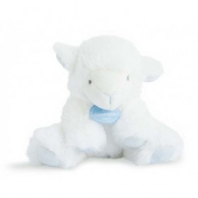 Doudou et Compagnie Mon tout Petit agneau mouteau blanc et taupe mouchoir 25cms