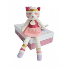 Doudou Histoire d/'ours Sweety Chat Couture Rose PM 24cms HO2646