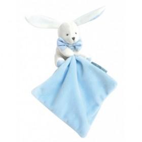 Accueil Doudou et Compagnie Doudou et compagnie Lapin Bleu fleur 10cms Bonjour Doudou Pantin