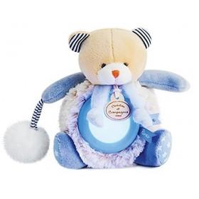 Accueil Doudou et Compagnie doudou Doudou et compagnie Ours Bleu DC3053 Lovely Veilleuse