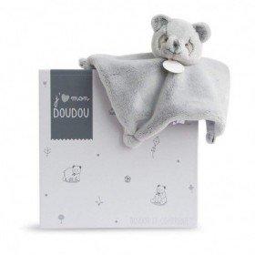 Accueil Doudou et Compagnie doudou Doudou et compagnie Panda Gris DC3164 J'aime mon doudou Plat