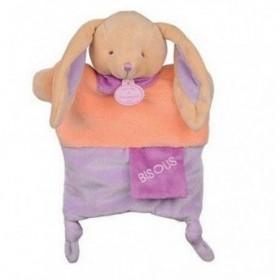 Accueil Doudou et Compagnie doudou Doudou et compagnie Lapin Violet Bisous Violet foulard DC2784 Petit Secret Marionnette
