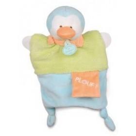 Accueil Doudou et Compagnie doudou Doudou et compagnie Pingouin Vert Plouf foulard Orange DC2784 Petit Secret Marionnette