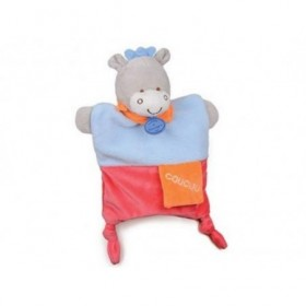 Accueil Doudou et Compagnie doudou Doudou et compagnie Ane Bleu Coucou foulard Orange DC2784 Petit Secret Marionnette