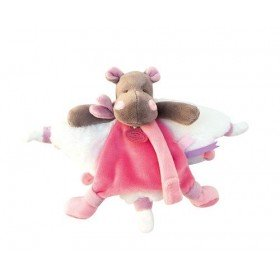 Accueil Doudou et Compagnie doudou Doudou et compagnie Hippopotame Rose Zoe Rose 16cms DC3387 Doudou Tatoo Plat