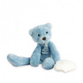 Accueil Doudou et Compagnie doudou Doudou et compagnie Ours Bleu avec Doudou Bleu 30cms HO2315 Sweety  Pantin